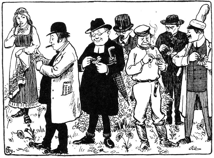 Histoire d'Helsinki : Caricature d'Alex Federley sur les élections parlementaires.
