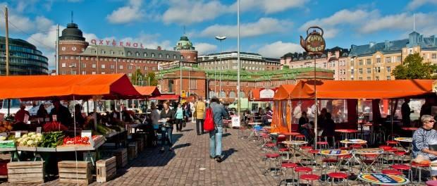 Halle-marché d'Helsinki : Hakaniemen Kauppahalli.