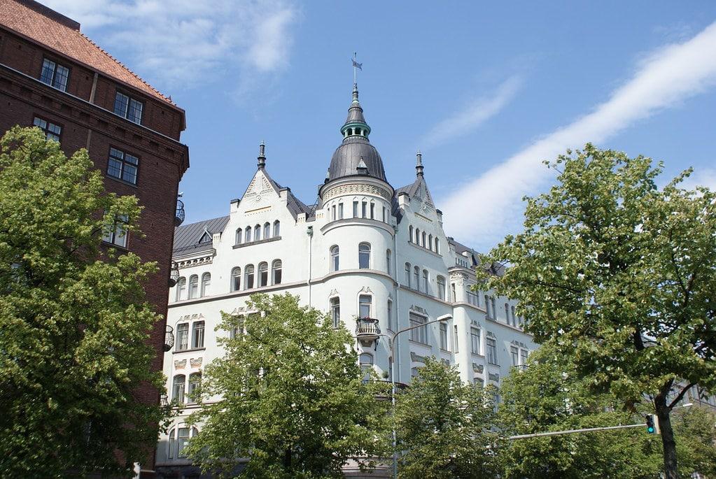 Architecture Art Nouveau à Helsinki.
