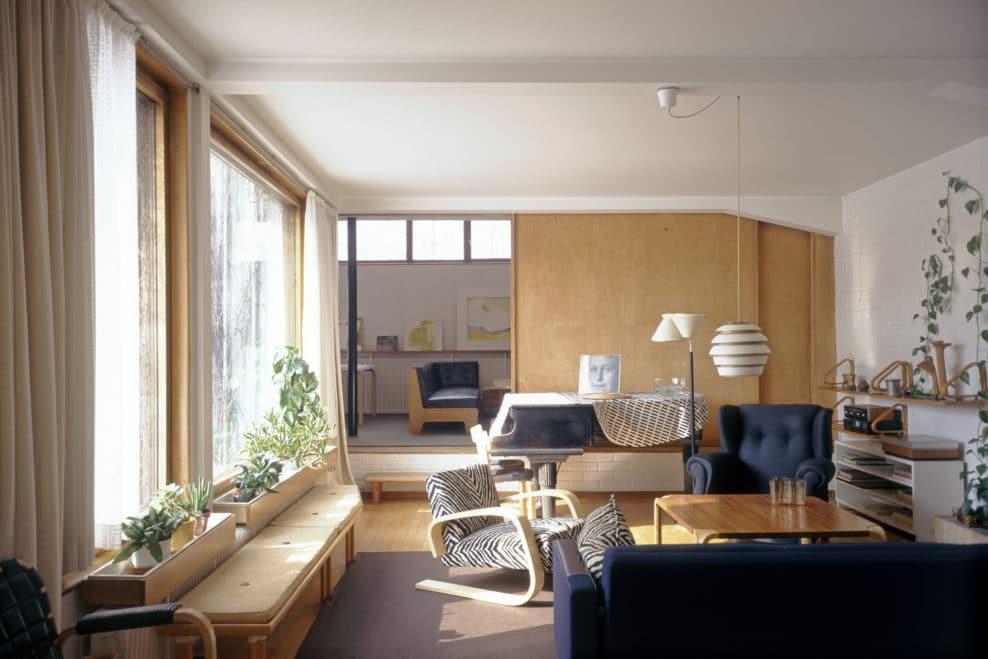 Intérieur de la maison d'Alvar Aalto à Helsinki - Photo de Maija Holma
