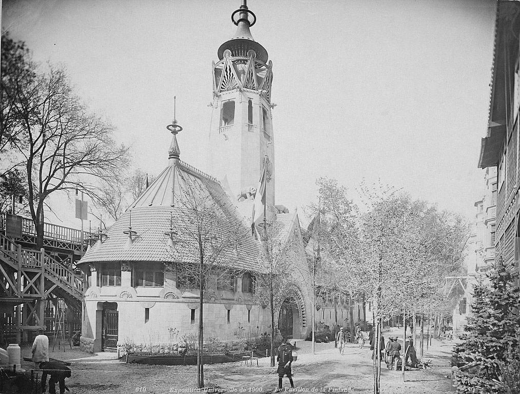 Pavillon de la Finlande à l'exposition Universelle de Paris en 1900.