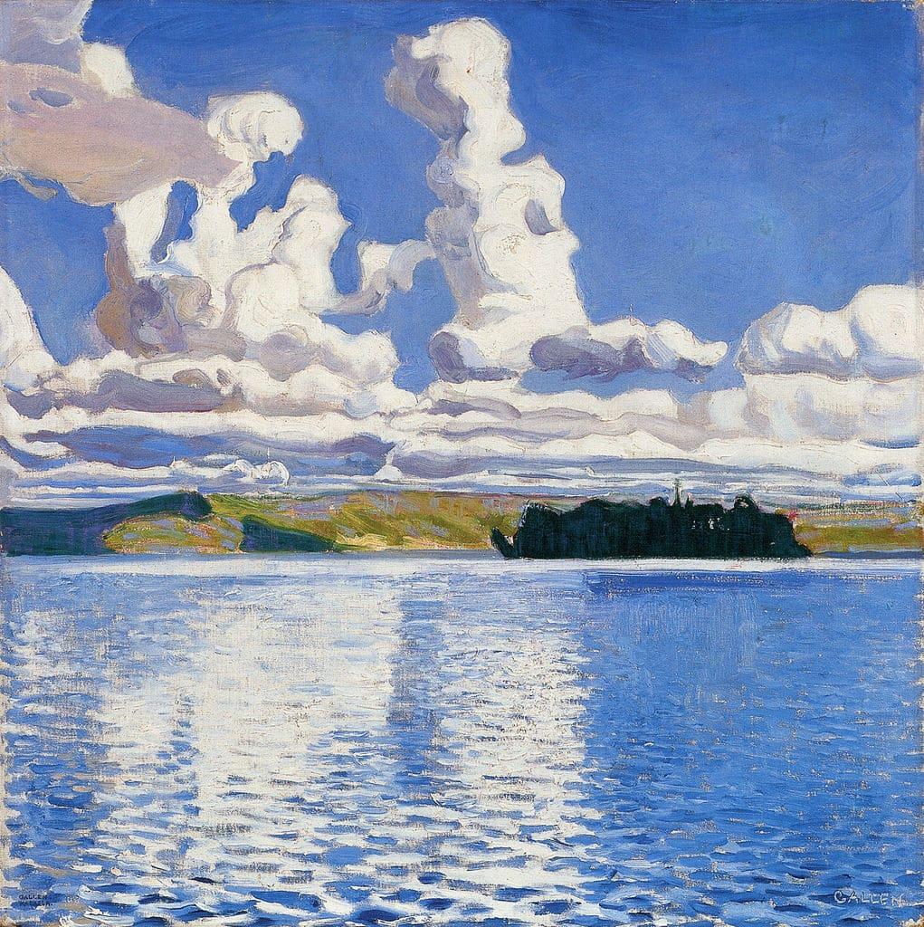 Paysage d'Akseli Gallen Kallela au Musée d'art Didrichsen à Helsinki