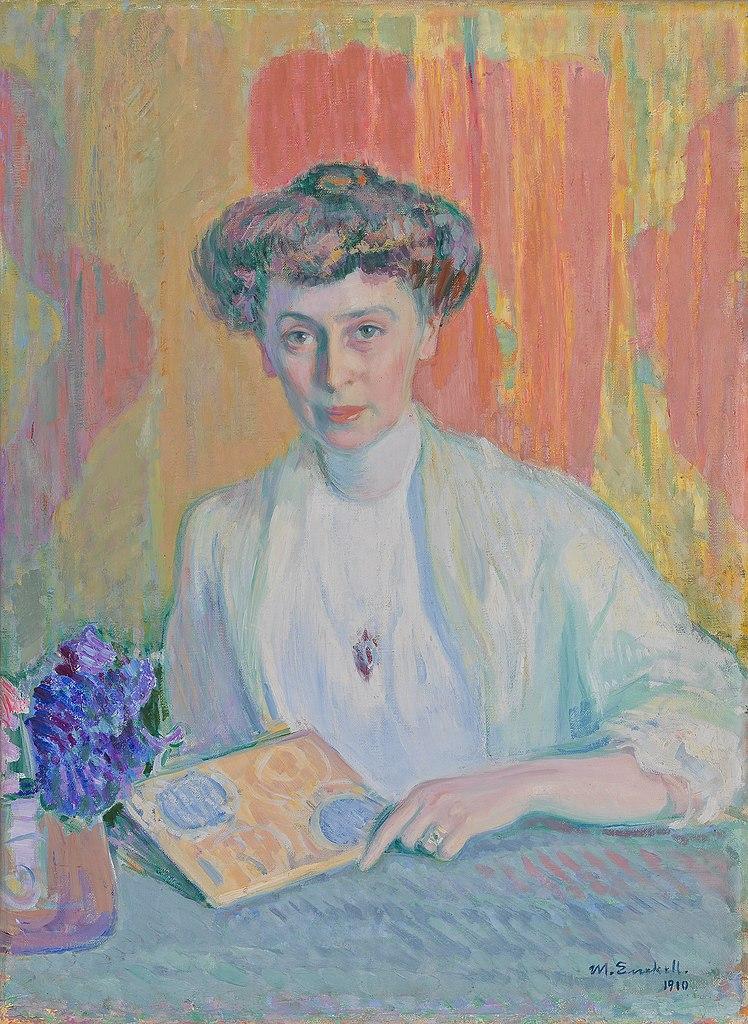 """Portrait de Tyra Hasselblatt"" Oeuvre de Magnus Enckell (1910) dans le HAM, Helsinki Art Museum."