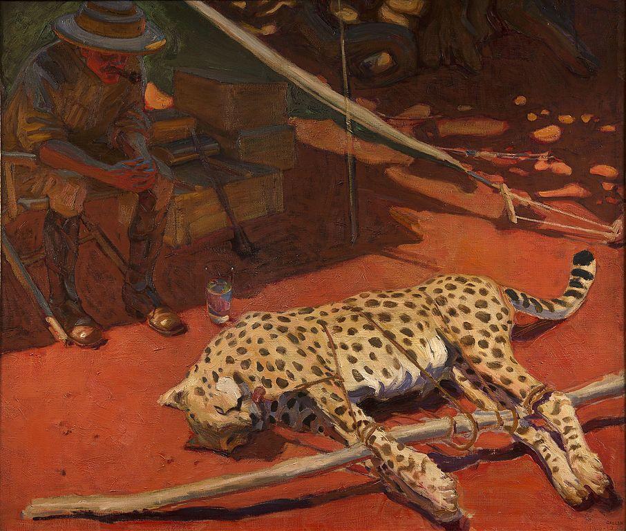 """Cheetah"", toile de Akseli Gallen Kallela au musée Mannerheim à Helsinki."