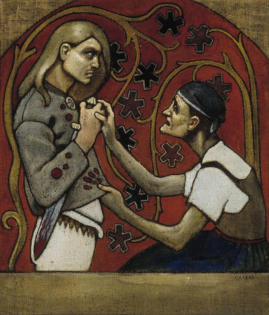 """Fratricide"" (1897) d'Akseli Gallen Kallela au Musée Ateneum à Helsinki."