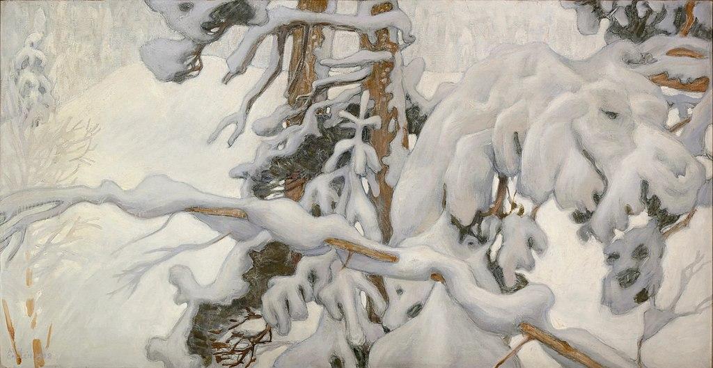 Etudes hivernales (1902) d'Akseli Gallen Kallela au Musée Ateneum à Helsinki.