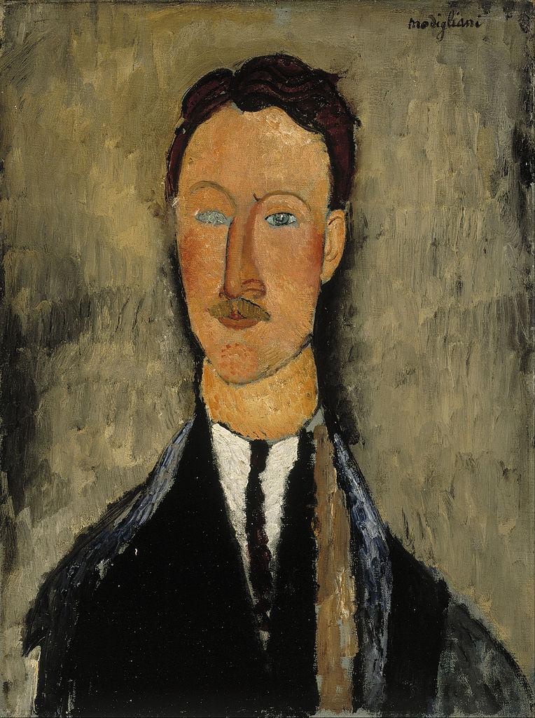 Portrait de Léopold Survage par Modigliani (1918) au Musée Ateneum à Helsinki.
