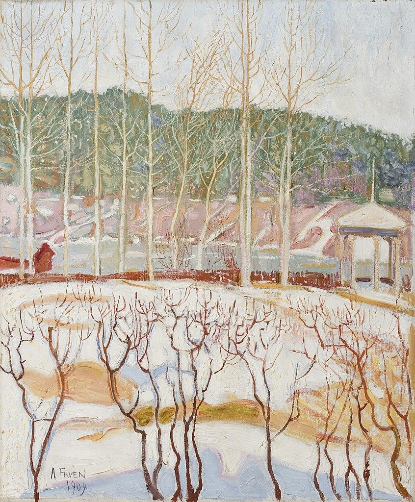Oeuvre d'Antti Faven au Musée Ateneum à Helsinki.