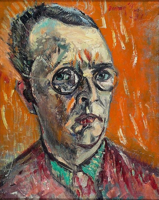 Autoportrait d'Eemu Myntti (1931) au Musée Ateneum à Helsinki.