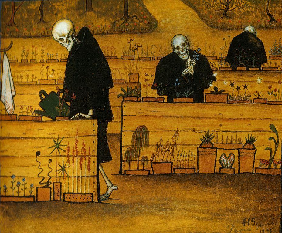 Jardin de la mort (1888) de Hugo Simberg au Musée Ateneum à Helsinki.