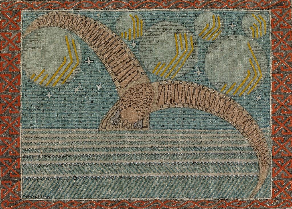 """""""Canard sauvage et corps célestes"""" de Joseph Alanen (1920) au Musée Ateneum à Helsinki."""