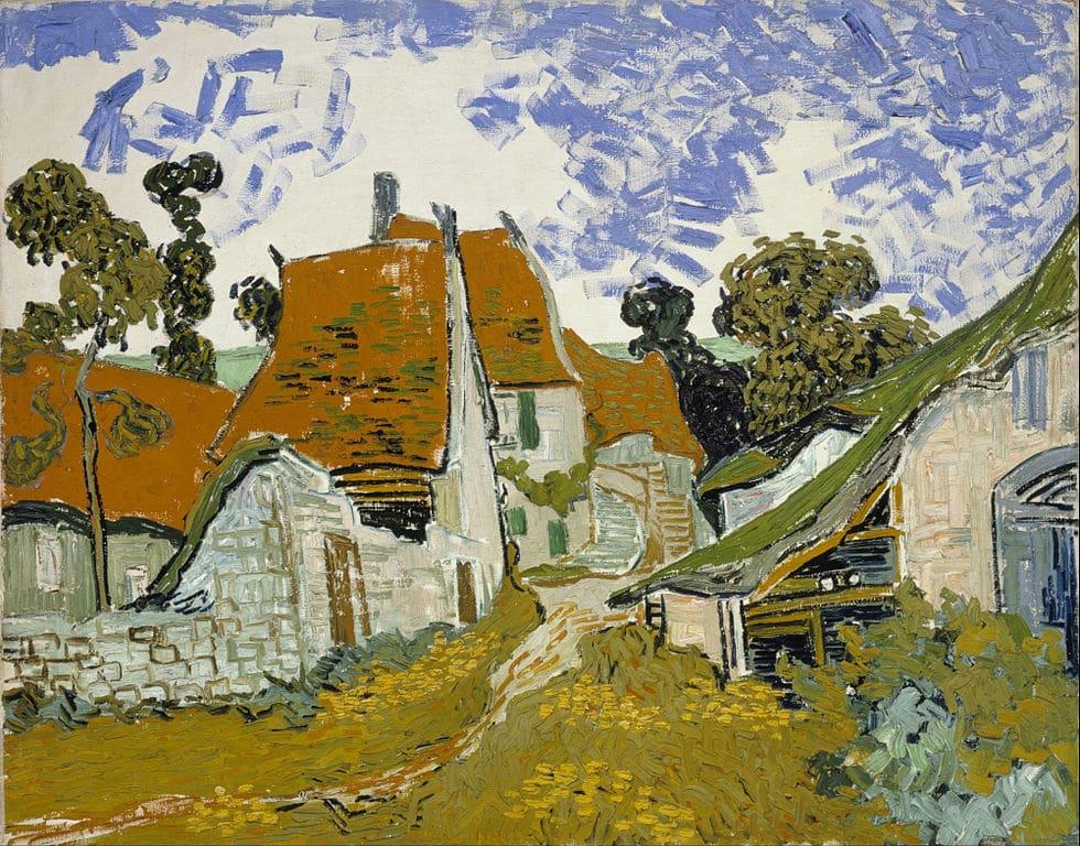 Rue d'Auvers sur Oise (1890) de Vincent van Gogh (1888) de Hugo Simberg au Musée Ateneum à Helsinki.