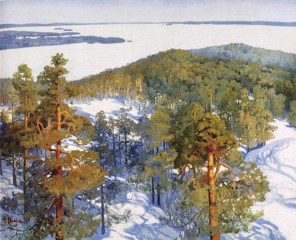 Paysage de Biese Talvinen (1920) au Musée Ateneum à Helsinki.