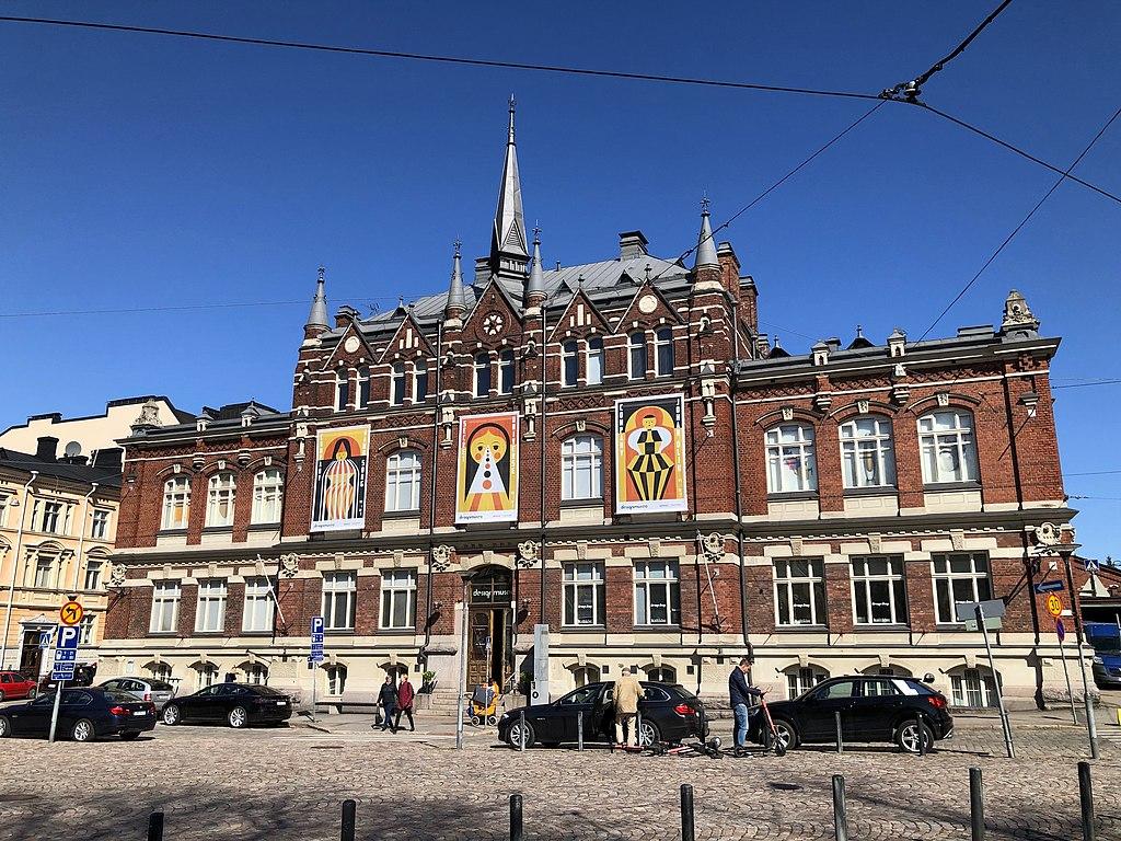Façade du Musée du design à Helsinki - Photo de Vadelmavene