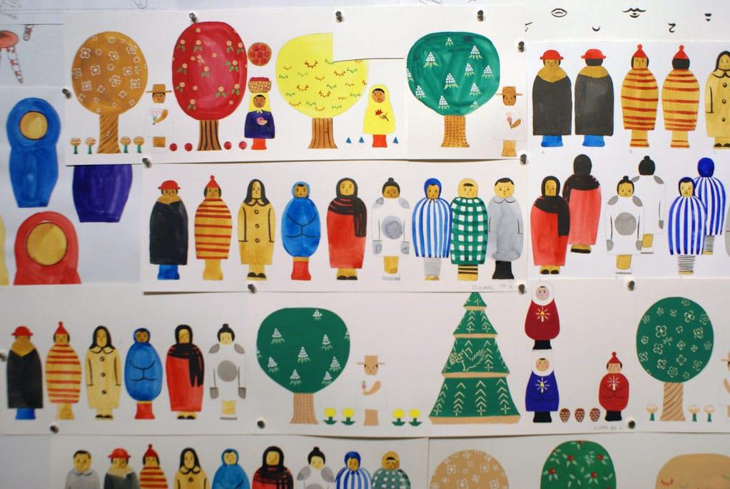 Illustration pour la création de jouet dans le Musée du design à Helsinki.
