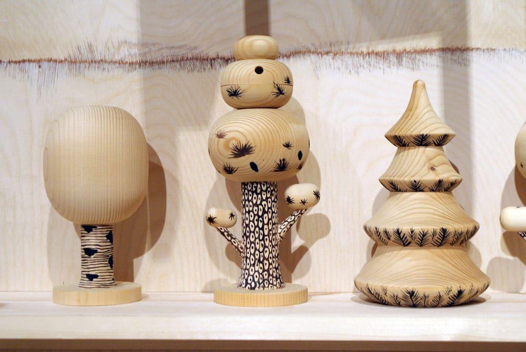 Jouet en bois dans le Musée du design à Helsinki.