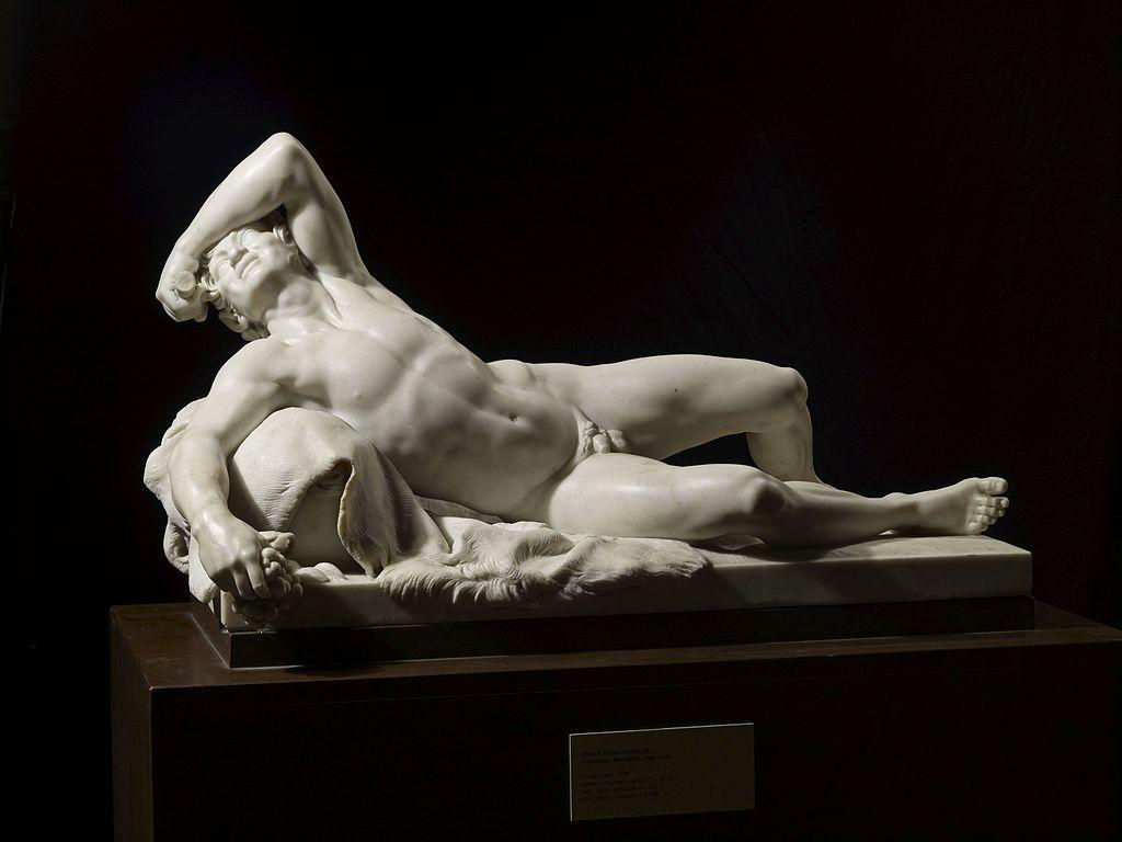 Sculpture Johan Tobias Sergel dans le Musée Sinebrychoff à Helsinki