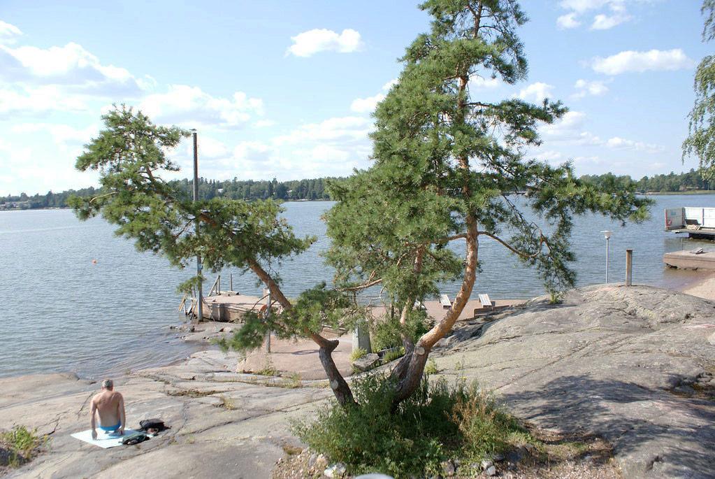Base nautique sur l'île de Seurasaari à Helsinki.