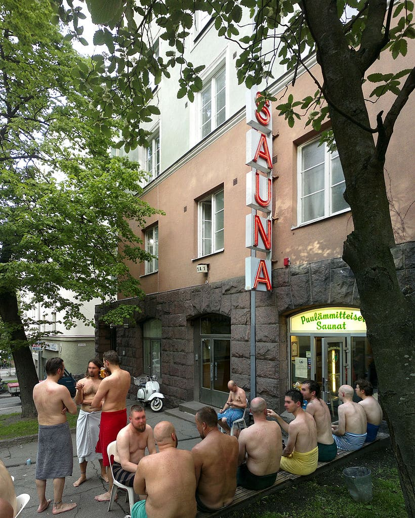 Sauna traditionnel dans le quartier de Kallio à Helsinki - Photo de Fileri.