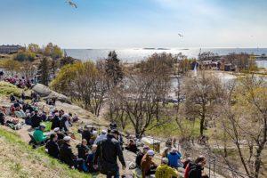 Quartier d'Helsinki sud : Balade au vert en bord de mer