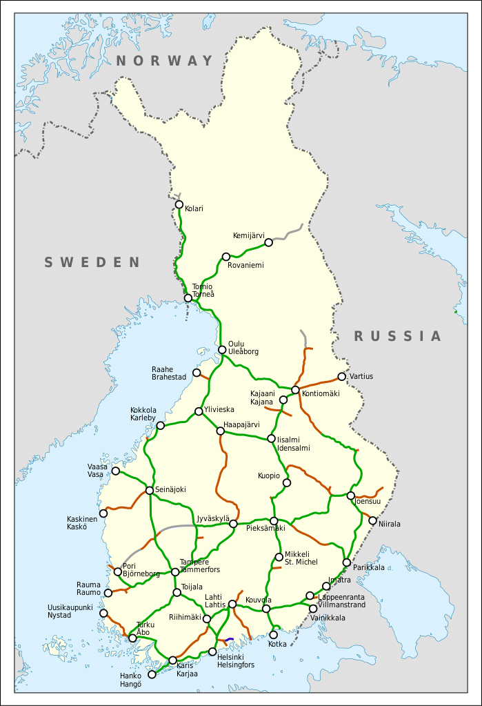 Réseau de chemin de fer en Finlande - Image d'Oona Räisänen