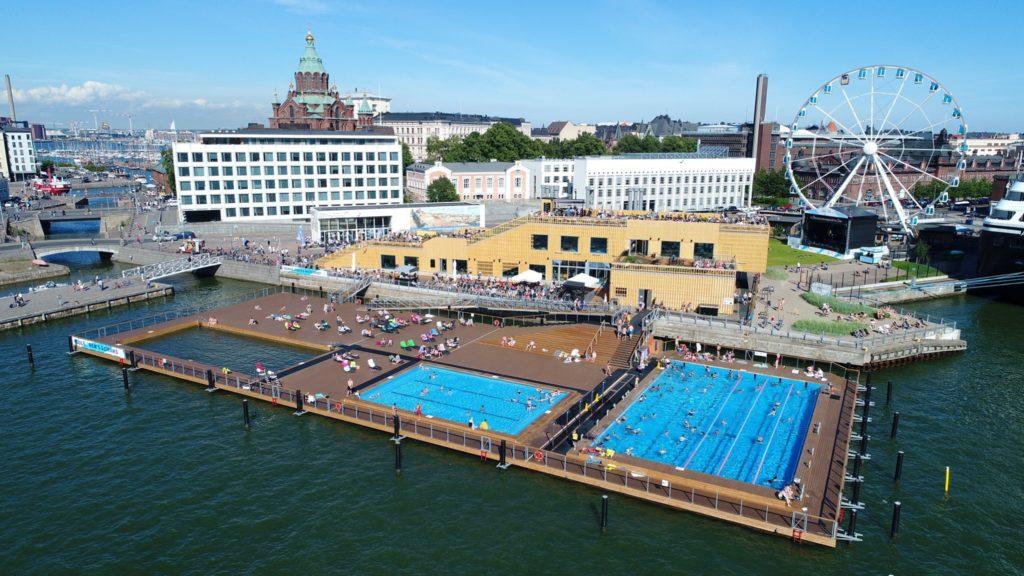 Sauna à Helsinki : Sauna et piscine au Allas Sea Pool.