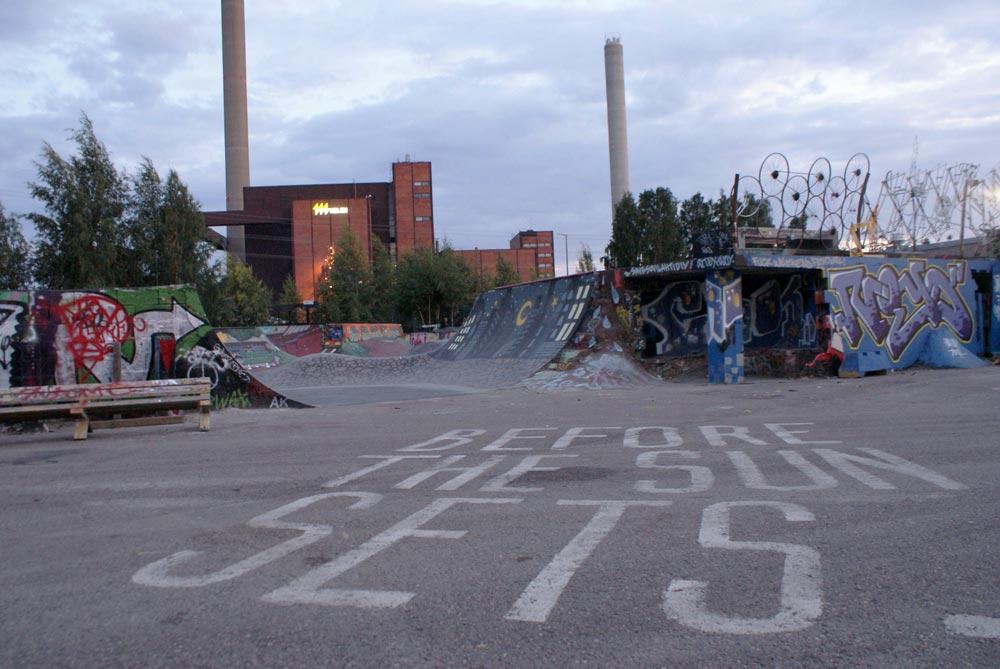 Skatepark près du bar à bière / microbrasserie Stadin Panimo à Helsinki.