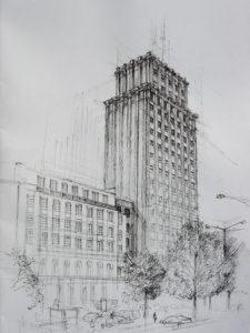 Prudential : Premier gratte-ciel de Varsovie [Śród. Nord]