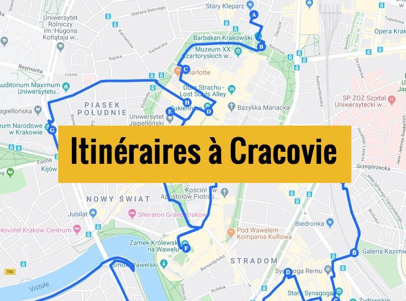 Itinéraires détaillés pour visiter Cracovie (Pologne) en 2, 3 jours ou plus.