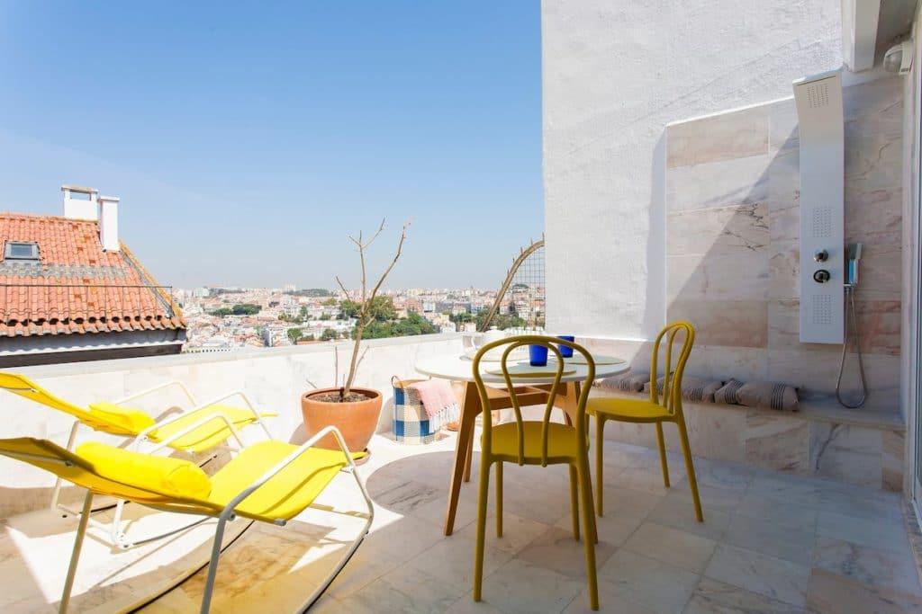 Airbnb à Lisbonne : Location d'appartement avec une superbe vue.