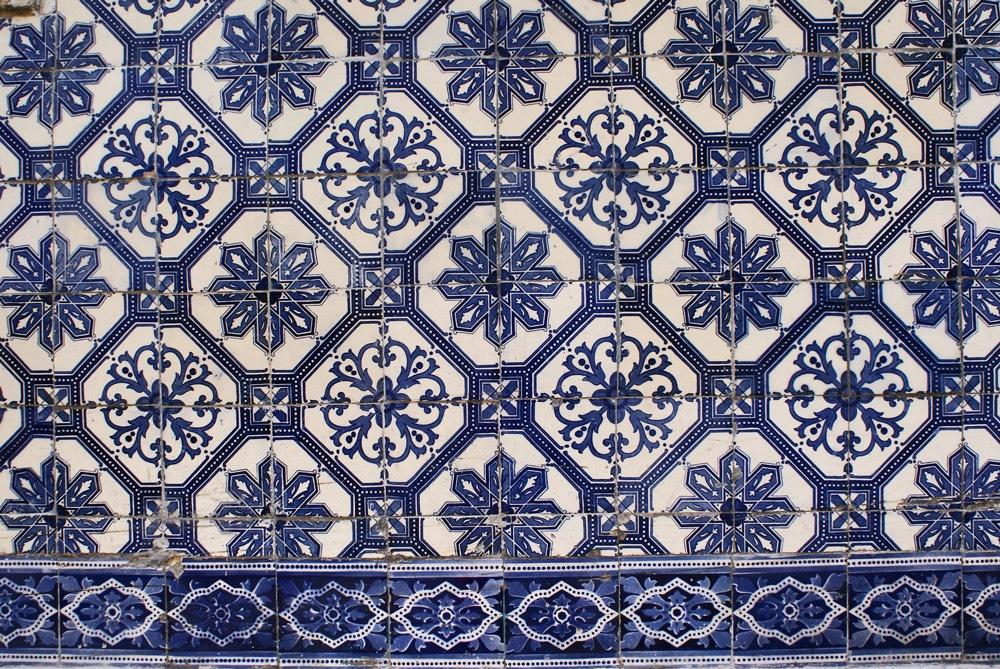 Dans le musée de l'azulejo de Lisbonne.
