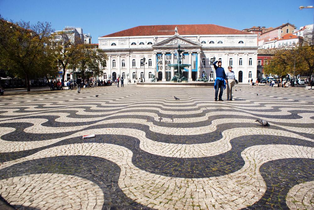 Place de Rossio à Lisbonne.
