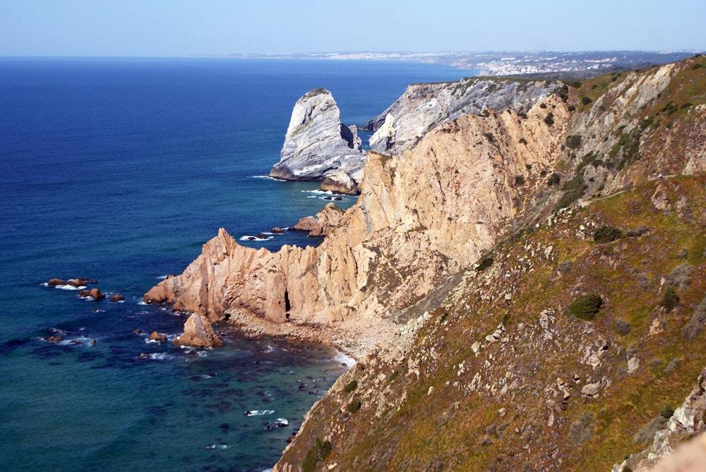 Falaise de Cabo da Roca près de Sintra.