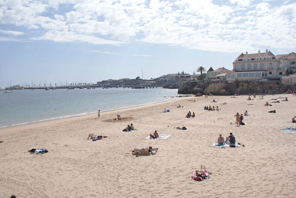 Praia da Conceição, l'une des plus grandes plages de Cascais.