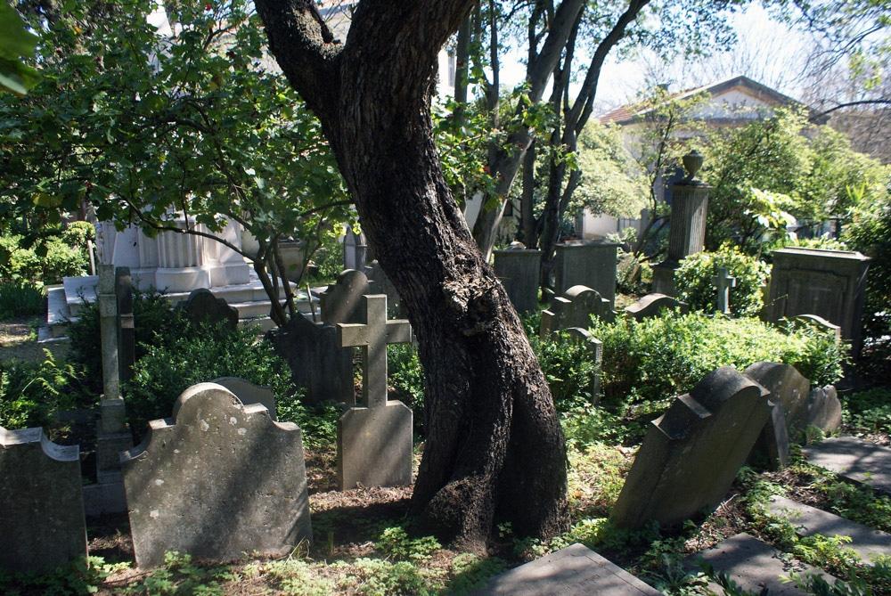 Dans le cimetière anglais de Lisbonne
