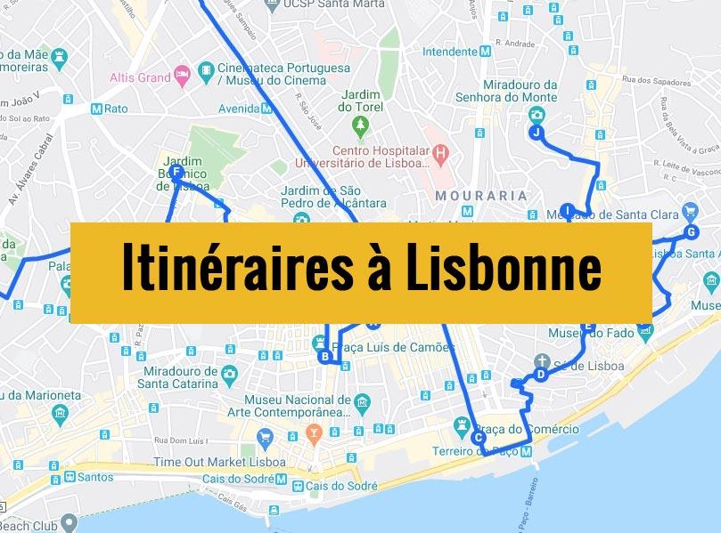 Itinéraires détaillés pour visiter Lisbonne (Portugal) en 2, 3 jours ou plus.