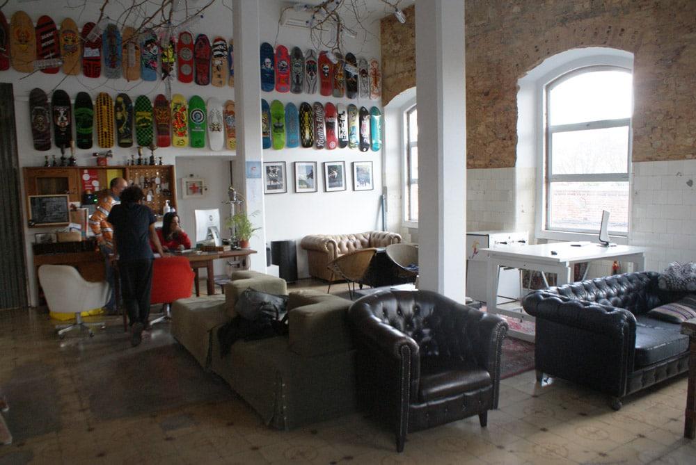 Auberge de jeunesse à la LX Factory à Lisbonne.