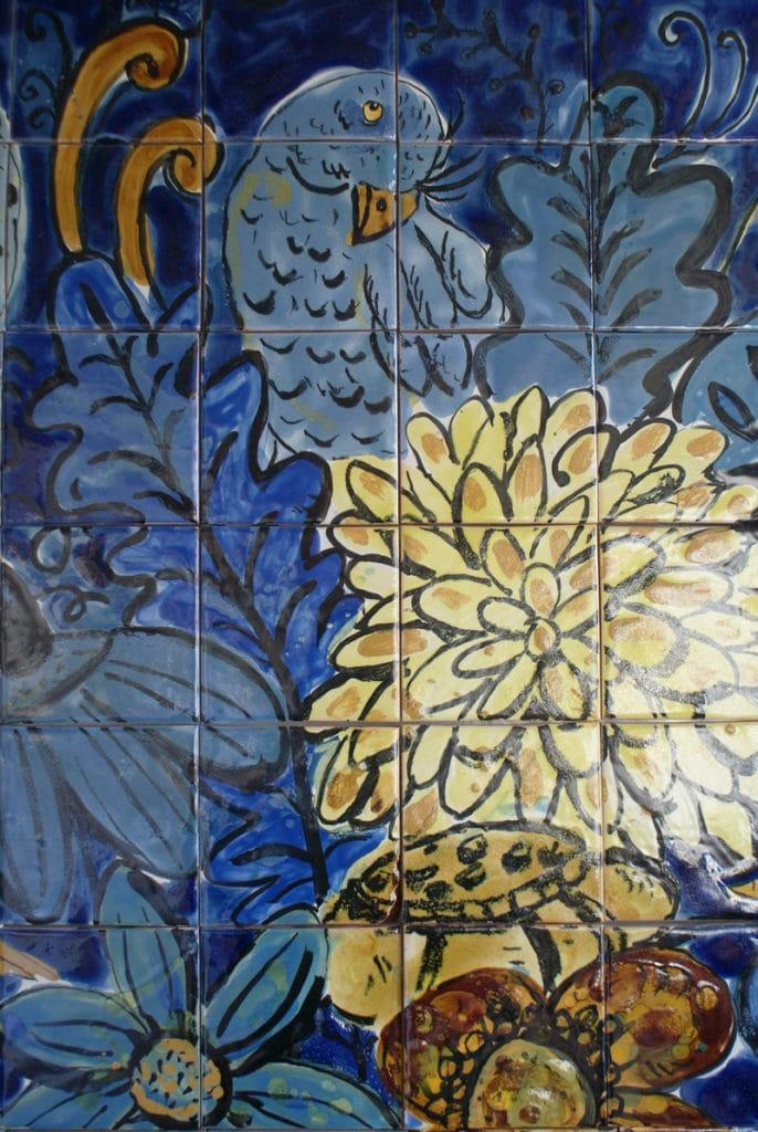 Création moderne au Musée de l'Azulejo à Lisbonne.