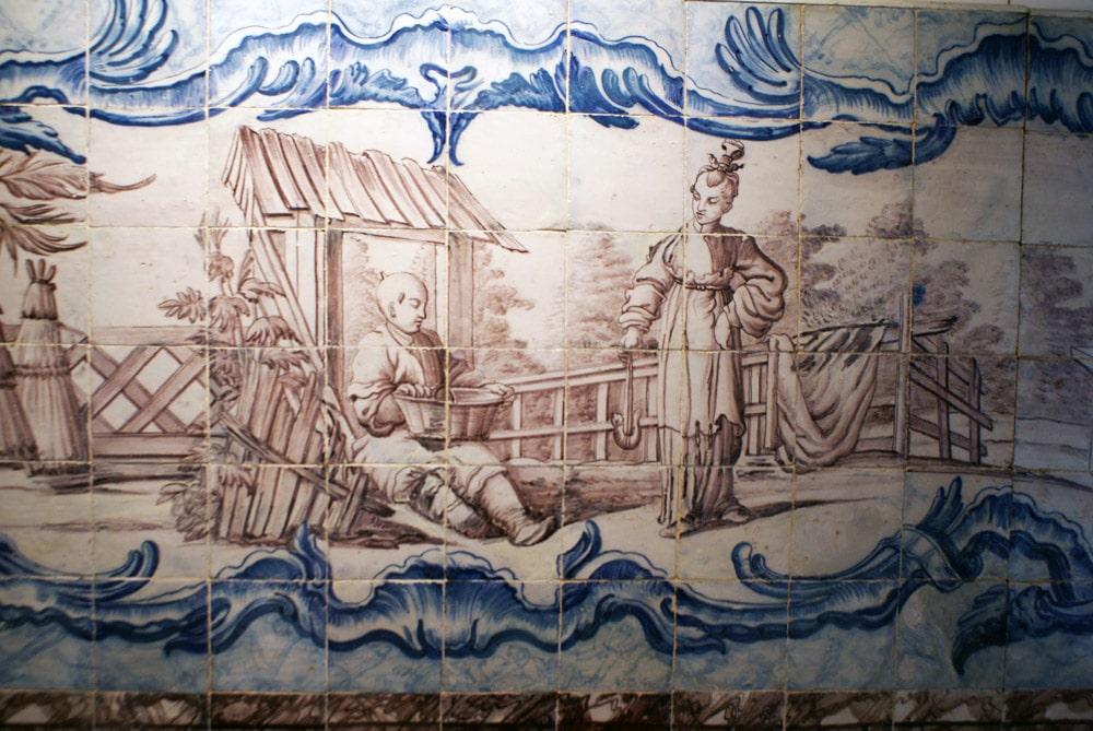 """""""Chinoiserie"""" d'inspiration ou de réalisation néerlandaise (?) au Musée de l'Azulejo à Lisbonne"""