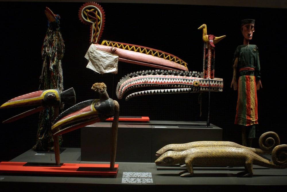 Objets du Mali au Musée d'ethnologie à Lisbonne.
