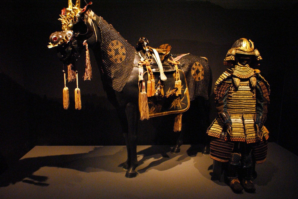Cadeau de l'empereur au Roi du Portugal : Armures de samourais d'apparat au Palais national d'Ajuda à Lisbonne