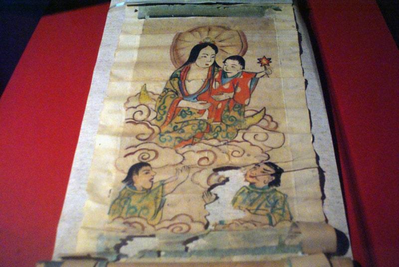 L'objet le plus insolite : Une représentation de la Vierge à l'enfant à l'époque des Jésuites christianisant le Japon. Palais national d'Ajuda à Lisbonne