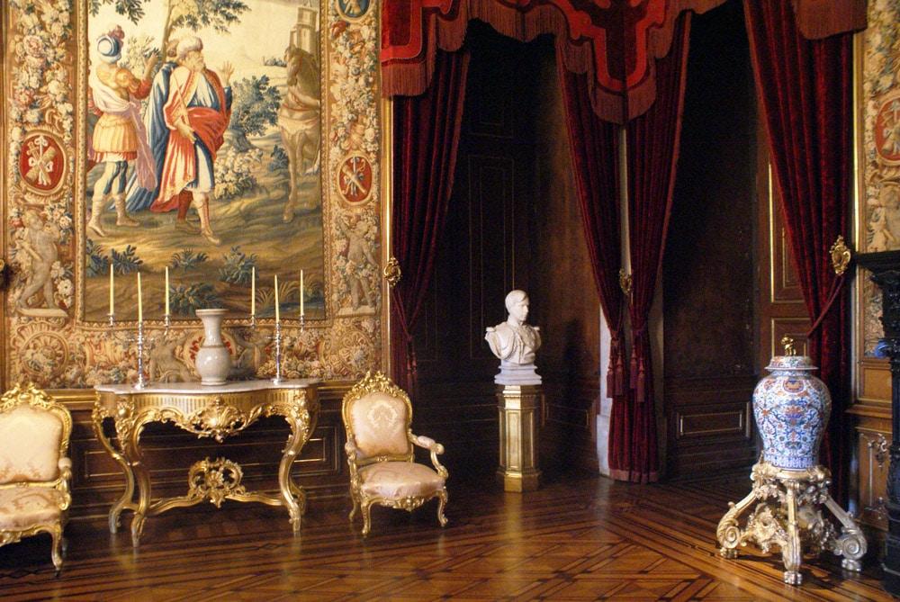 Décoration d'intérieure dans le Palais national d'Ajuda à Lisbonne