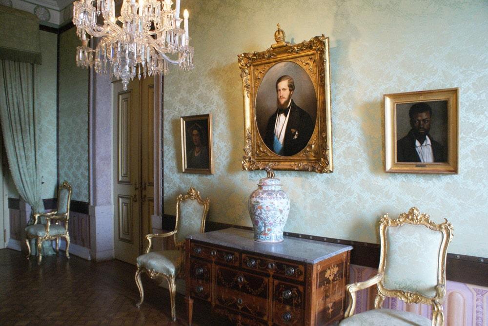 A l'intérieur du Palais national d'Ajuda à Lisbonne.