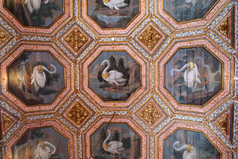 Plafond peint du Palais National de Sintra près de Lisbonne.