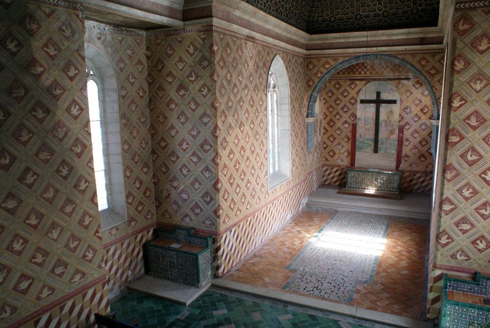 Dans l'église Palatine dans le Palais National de Sintra près de Lisbonne.