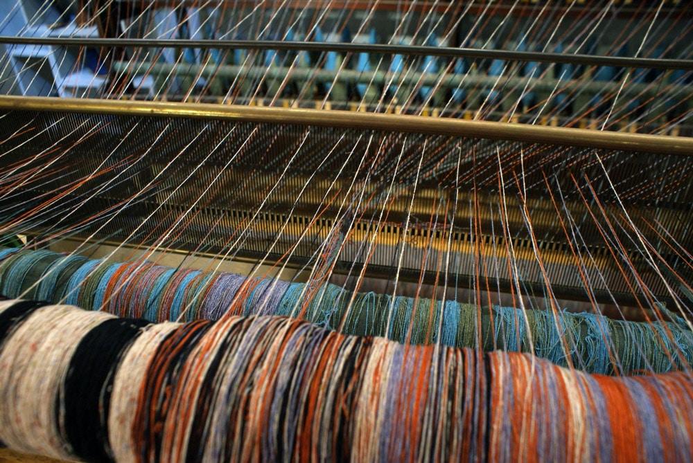 > Magasin Loja da Burel à Lisbonne avec la laine en matière première.