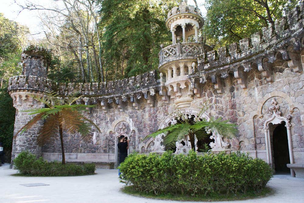 Dans le jardin de la Quinta da Regaleira à Sintra.