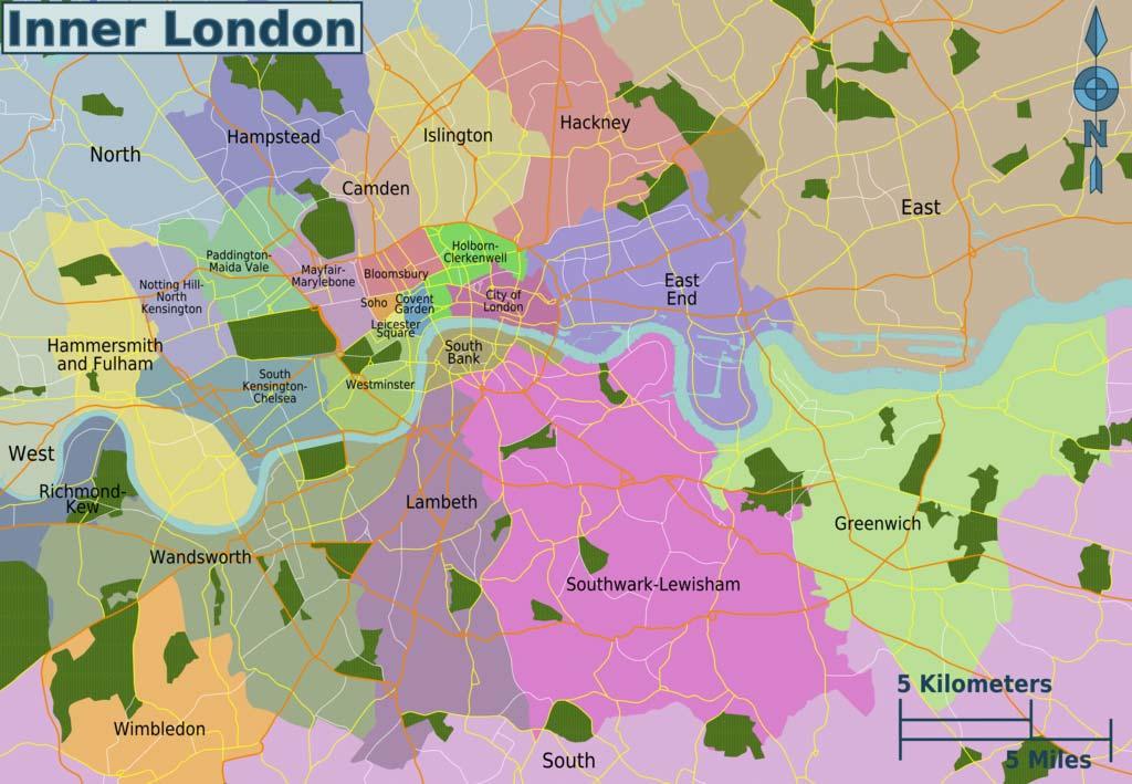 Carte des quartiers de Londres - Image de Peter Fitzgerald