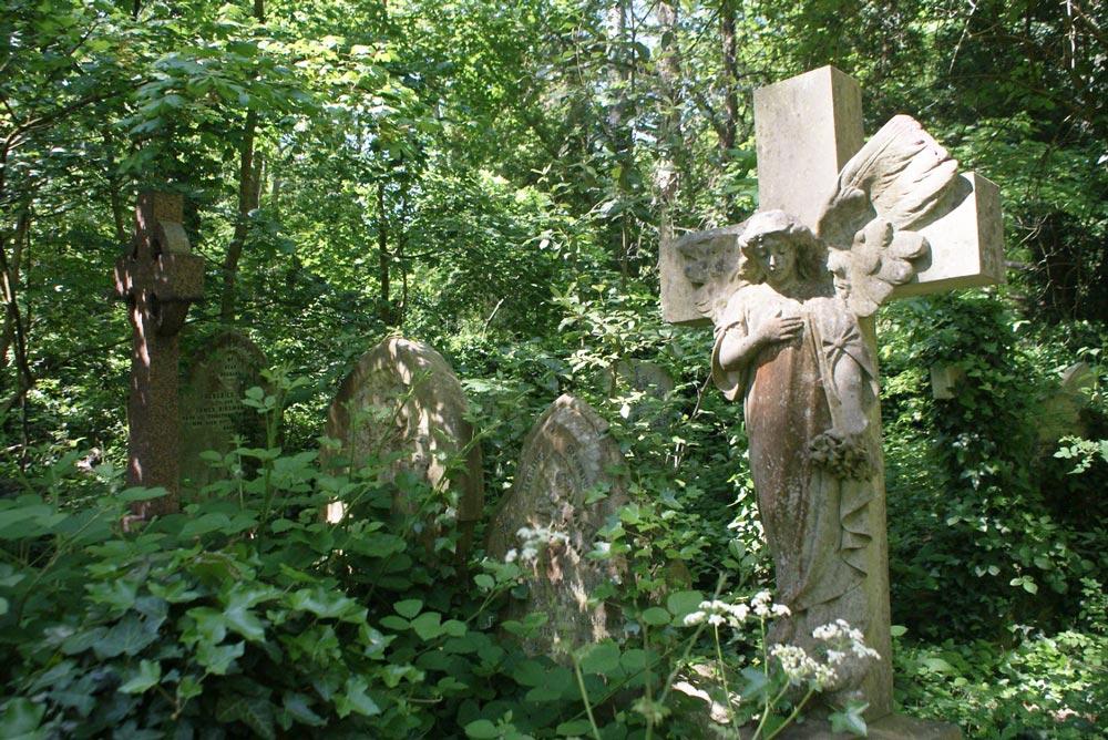Abney park cemetery dans le quartier de Stoke Newington à Londres.